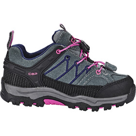CMP Campagnolo Rigel Low WP Trekking Shoes Kids grey-hot pink